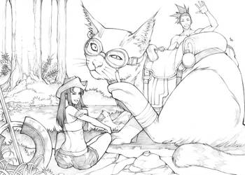Cat travelers by MizaelTengu