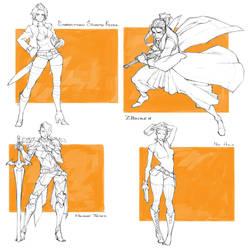 Character Drafts #7 by MizaelTengu