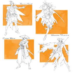 Character Drafts #18 - Open by MizaelTengu