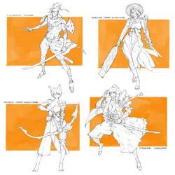 Character Drafts #20 - Open by MizaelTengu