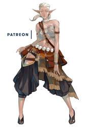 Patron Character - January - Leliana by MizaelTengu