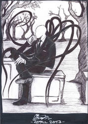 Slender Man is waiting... by Thevakien