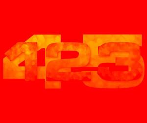 a new 12345 new font by bigbadnosh