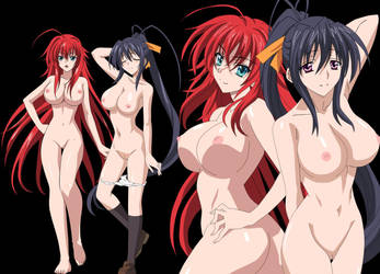 Highschool DxD Rias and Akeno HD by DXDfan