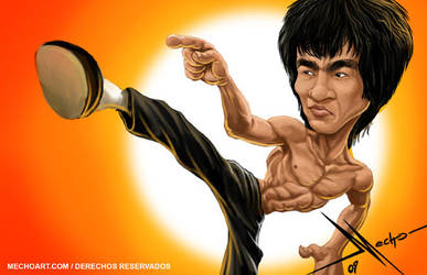 Bruce Lee by Mecho