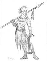 Imonya - Bird Hunter by SamwiseTheAwesome