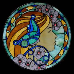 Jenna Under Glass by VectorProfessor