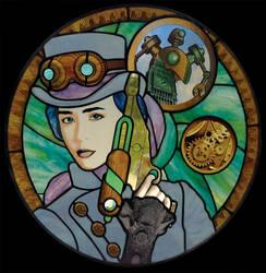 Steampunk Under Glass by VectorProfessor