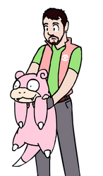 Buzzed doodle of trainer self by SatyrJosh