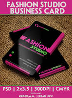 Fashion Studio Business Card by CaCaDoo