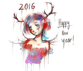 happy new year, 2016 by MelodyGlow