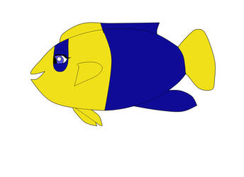Trina as a bicolor angelfish by heart8822