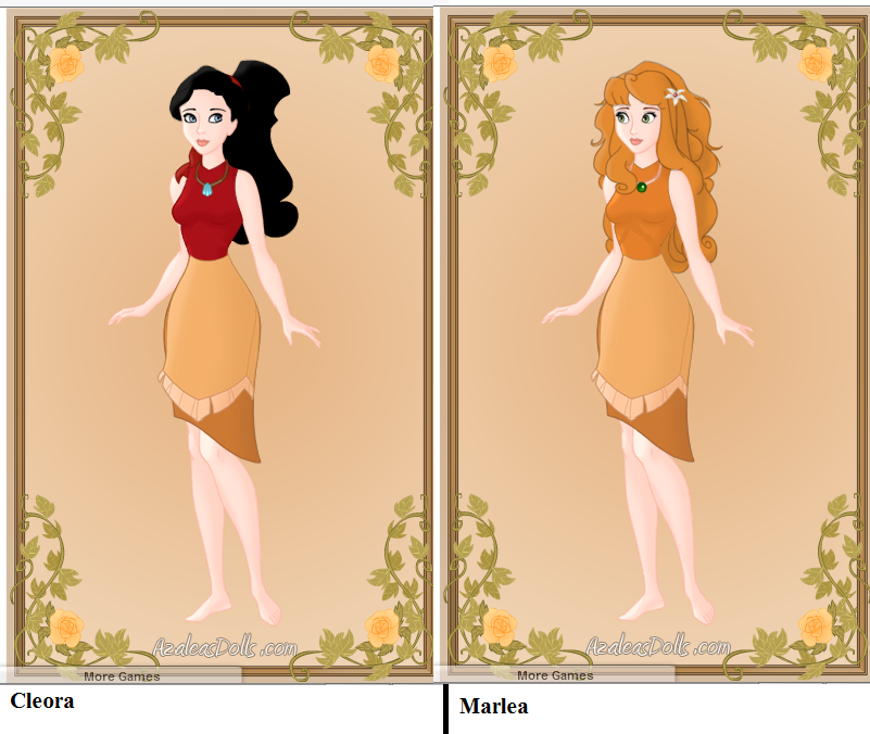 Cleora's and Marlea's Pinare outfits by heart8822