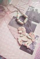 Marshmallow pony necklace III by Nika-N