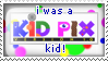 I was a Kid Pix Kid Stamp by Abbey-TerMeer