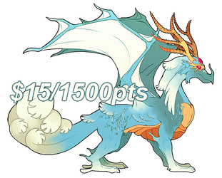 [FLATSALE] $15/1500pt Dragon Adopt #1 [OPEN] by Shalmons