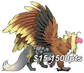 [FLATSALE] $15/1500pt Griffin Adopt #1 [OPEN] by Shalmons