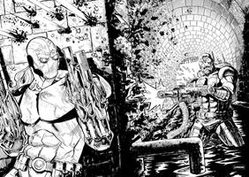 Deathlok v. Super Patriot by jessemunoz