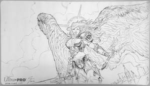 Angel of Serenity Playmat by jessemunoz