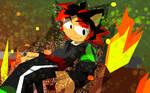 Potara Fusion Black and Shadowtails by DragonBall-Norlight