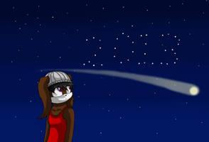 In the stars by AlexSammyHedgehog