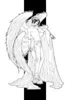Angel of Destruction - lineart by alatherna