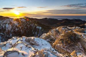Winter sunset on North Velebit by ivancoric