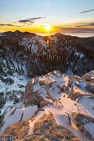Winter sunset on North Velebit II by ivancoric
