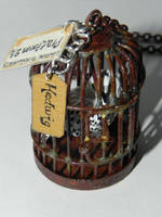 Hedwig, Harry Potter's Owl Hedwig in a Bird Cage N by Secretvixen