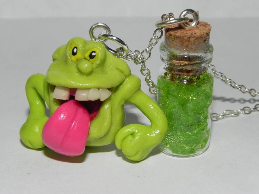 Slimer, Glow in the Dark, Ghostbusters, Slime in a by Secretvixen