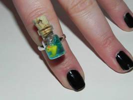 Rubber Ducky Ring, Sesame Street Inspired Rubber D by Secretvixen
