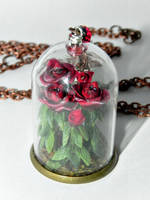 All the Queen's Roses Glass Necklace by Secretvixen