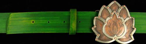Lotus Belt Buckle by lieandletdie