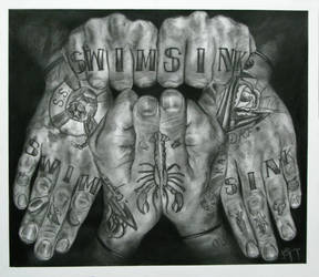 Tattooed Hands by lieandletdie