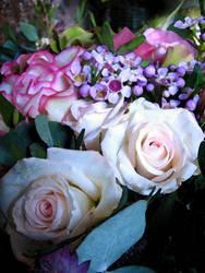 bouquet of flowers by O-W-L
