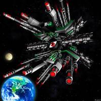 Heavy Artillery Space Fortress Lar by blackorb00