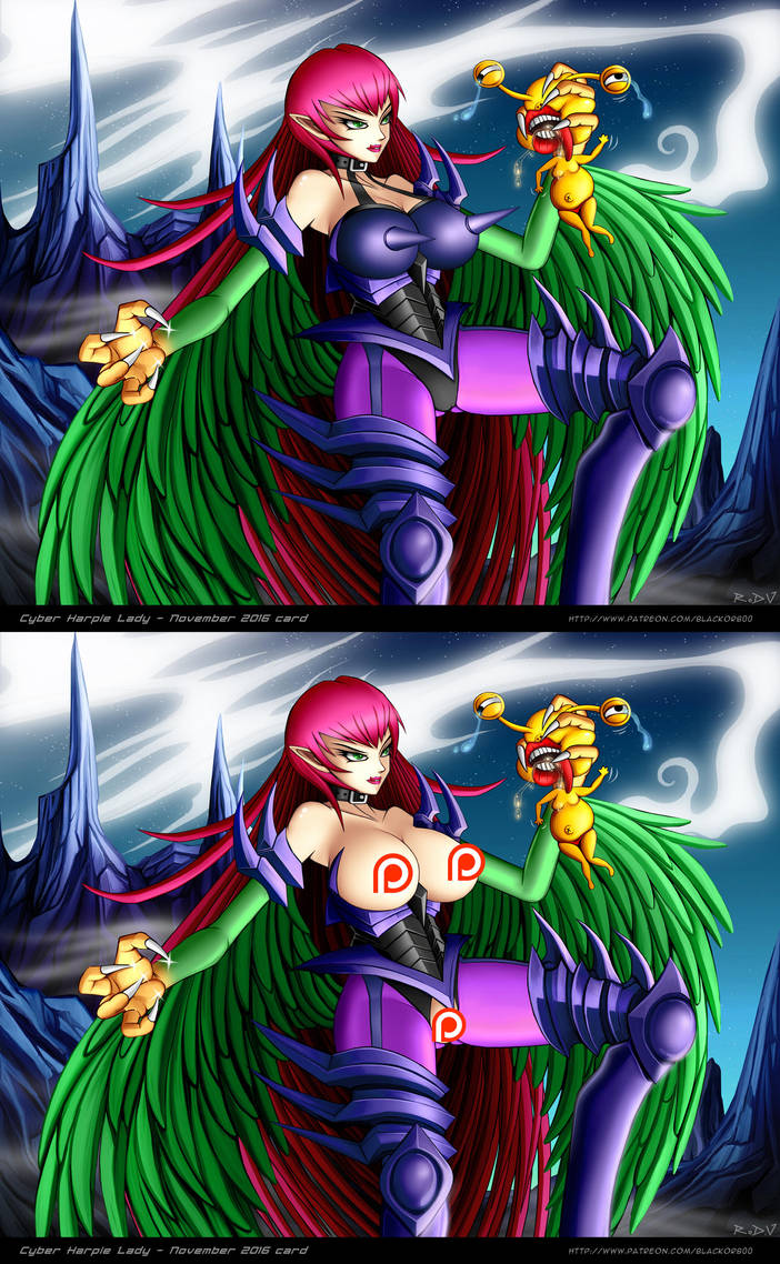Cyber Harpie Lady 01 By Blackorb00 On Deviantart