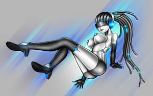 Gynoid girl YCH by blackorb00