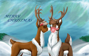 Rudolph's Christmas kiss by WMDiscovery93