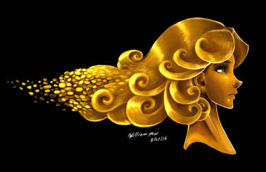 'Painted - Opulent Gold' by WMDiscovery93