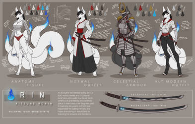 Kitsune Ronin Rin - outfits by WMDiscovery93