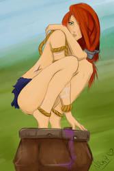 Gragas  - Female Gragas by NickyKirei