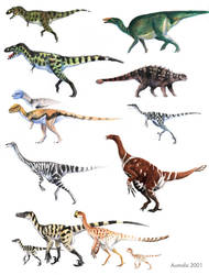 Dinosaur Color Guide by Osmatar