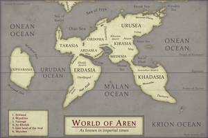 Aren World Map by Osmatar