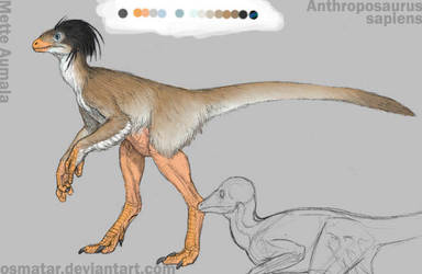 Anthroposaurus color guide by Osmatar
