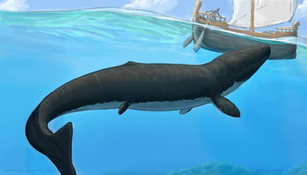 Fruits of Sketchtember: Young Leviathan by Osmatar
