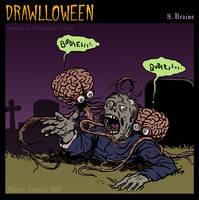 Drawlloween: Brains by Osmatar