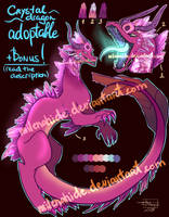 Crystal dragon adoptable (AUCTION OPEN!) +Bonus! by MilenaHide