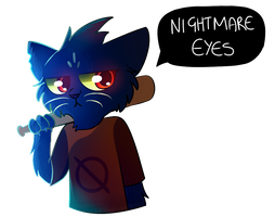 Night in the Woods - Mae by Legend-Mystery