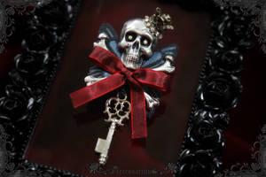 Death in Elegance Brooch by Necrosarium